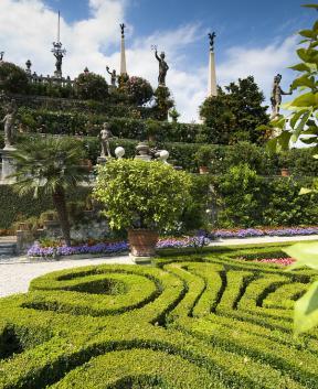 Baročni vrtovi na Isola Bella