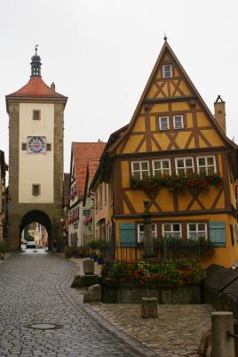 Stara lesena mesteca - Rothenburg ob der Tauber