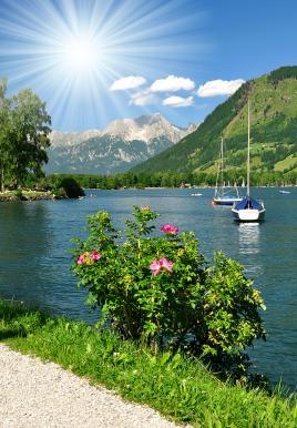 Čudovito jezero v Avstriji